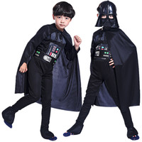 Free Shipping Halloween Carnival Star Wars Costume Kids Boys Storm Trooper Darth Vader Anakin Skywalker Children