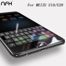 NFH Tempered Glass film for Meizu U10 case 0.3mm 9H Carbon Fiber 3D Full Tempered Glass Meizu U20 Screen Protector Glass Film