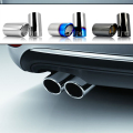 For 2012 2013 2014 VW Volkswagen Golf 7 MK7 JETTA MK6 GOLF 6 Chrome Exhaust Muffler Tip Pipe car styling auto accessories
