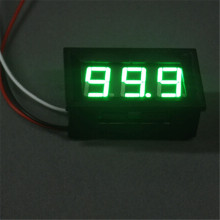 1 PC New Mini LED DC 0 100V Voltmeter Voltage Volt 3 Digital Display Panel Meter