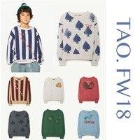 Camiseta de los niños Bobo Choses 2018 ropa niñas sudadera Otoño Invierno  Tao los animales algodón eff70f010877