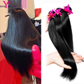 7A Brazilian Virgin Hair 3 Bundles Brazilian Straight Human Hair Extensions Cheap natural black color Remy Queen Bundles wigs