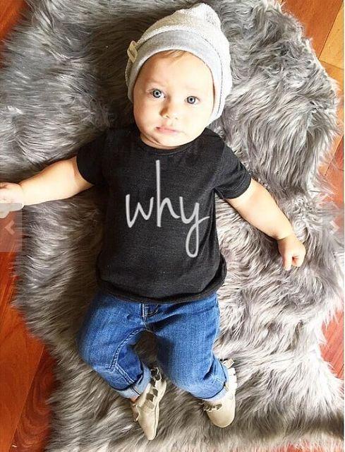 2017 Nueva Primavera Moda Niños camiseta Ropa de color Negro de Algodón Niños Camisetas Para los Niños