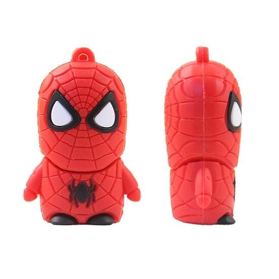 USB 3.0 3D Cute Superhero Cartoon Usb Flash Drive 64GB 32GB 16GB 8GB Pen Drive Cartoon Pendrive 64gb Flash Drive Gift Gifts