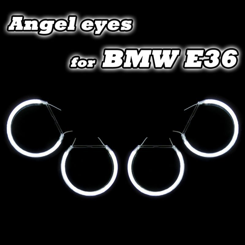 CCFL Angel Eyes White Halo Ring For BMW E36/E38/E39/E46 projector Error Free CCFL car Angel Eyes kit free shipping free shipping ccfl angel eyes for bmw e90 e90 non projector halo ring e90 ccfl angeleyes lights