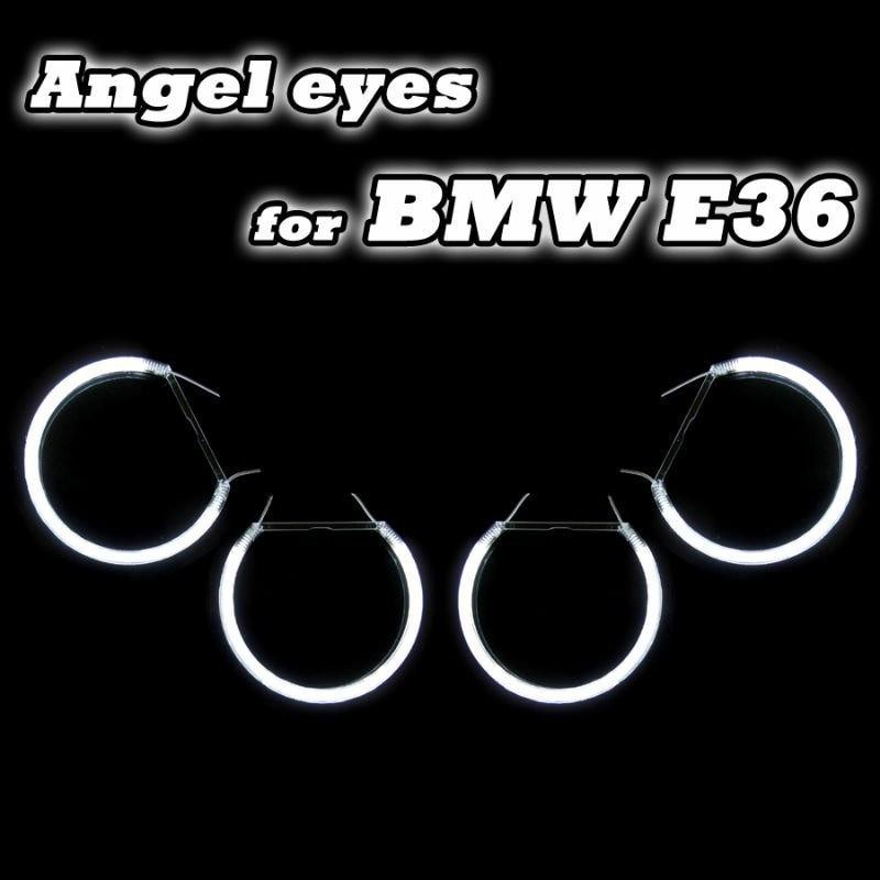 Подробнее о CCFL Angel Eyes White Halo Ring For BMW E36/E38/E39/E46 projector Error Free CCFL car Angel Eyes kit free shipping halo ring ccfl angel eye kit projector type 7000k white lamp for bmw e36 e39 e46 free shipping