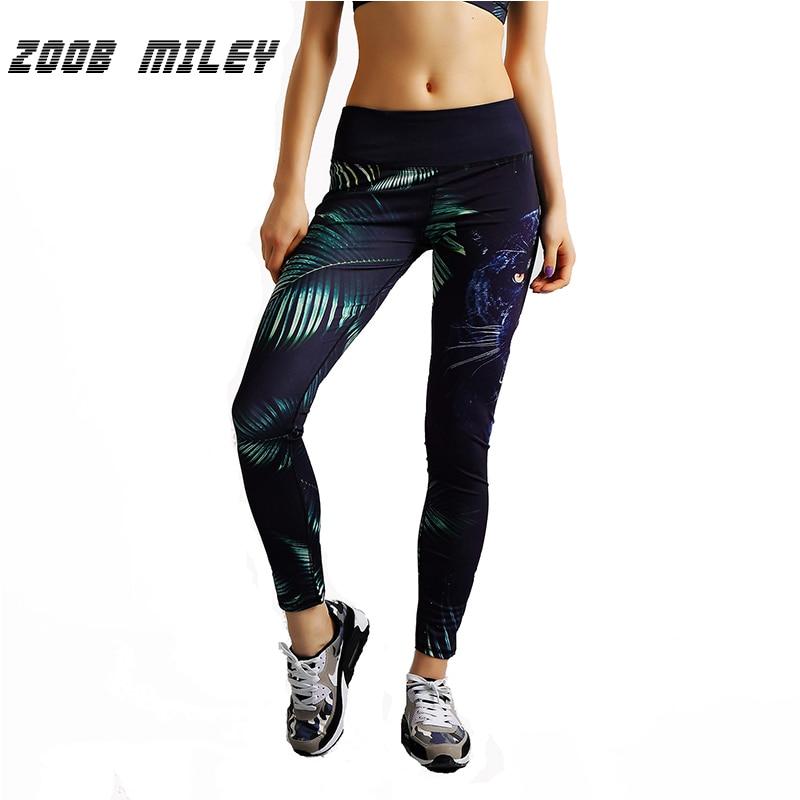 Prix pour ZOOB MILEY Femmes Sport Yoga Pantalon 3D Imprimer Fitness Compression Collants de Sport Haute Spandex Gym Workout Formation Leggings