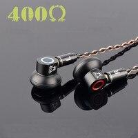 2018 New TONEKING TO400s In Ear Earbuds Graphene Dynamic High Impedance 400ohm Flat Head Plug Earburd