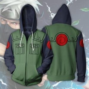 Image 2 - Anime Naruto 3D Hoodies Sweatshirt Sasuke Kakashi Cartoon Casual Harajuku Hoody NARUTO Thin Jacket Coat Streetwear Unisex