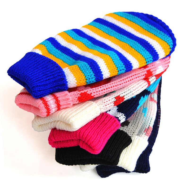 Pet Dog Clothes Winter Knit Warm dog Sweater Heart Flag Stripe Knitwear For Medium Puppy Clothing pet products DOGGYZSTYLE