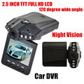New Arrival 2.5 inch HD LCD 6 LED Car DVR Video recorder Full HD Car camcorder 120 degree wide angle