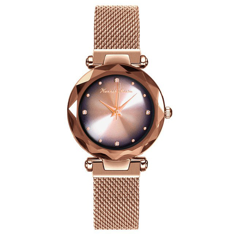 Hannah Martin Luxury Aurora Quartz Wristwatches Magnetic Buckle Japan Movement Waterproof Shockproof Women Watches Drop Shipping