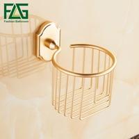 FLG Toilettenpapierhalter Goldenen Finish Aluminium Toilettenpapierhalter Korb Wand Bad-accessoires