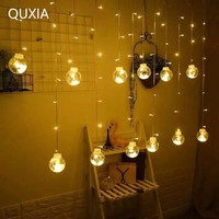 LED Garland String Lights 3M 12 Bulbs Battery USB Dual Use Fairy Christmas Wedding Curtain Outdoor Home Decoration New Year Lamp