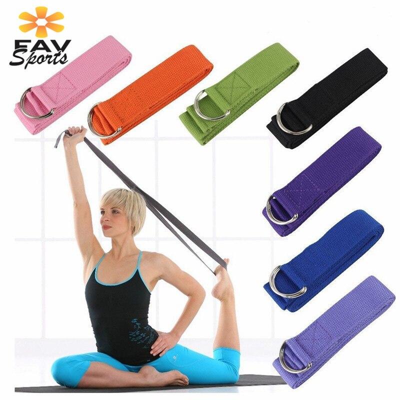 1Pc Adjustable Sport Stretch Strap D-Ring Belts Gym Waist Leg Fitness Yoga B/_sy