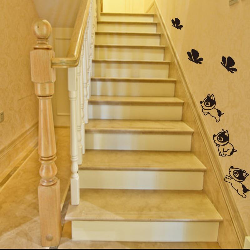 Baby σκυλί κουτάβι πεταλούδα βινύλιο - Διακόσμηση σπιτιού - Φωτογραφία 2
