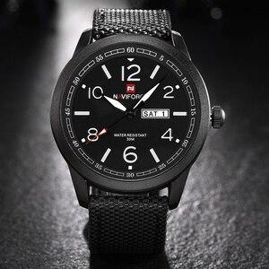 Image 2 - 새로운 naviforce 시계 패션 남자 톱 브랜드 럭셔리 망 나일론 스트랩 손목 시계 남자 쿼츠 스포츠 시계 relogio masculino