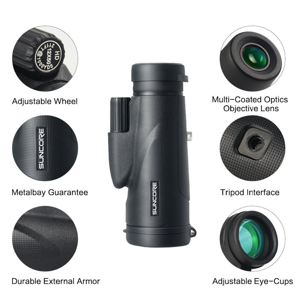 Monocular Telescope HD 12X50 Waterproof Thermal Monocular High Power Telescope Monocular Zoom Tourism Tools With tripods (14)