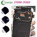 10 unids para samsung 9500 9505 para galaxy s4 pantalla lcd táctil digitalizador asamblea con marco de reemplazo blanco/negro azul