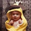 Envío libre forma Animal lindo bebé con capucha toalla de baño albornoz bebé manta muchacho y de la muchacha $ number-$ number años