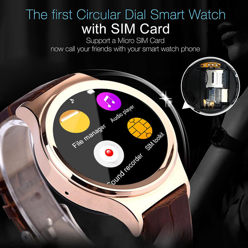 2016 Waterproof Smart Watch S3 T3 font b Smartwatch b font Support SIM SD Card Bluetooth