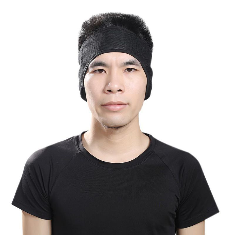 1PC Unisex Women Men Warm Headband Ear Warmer Winter Sports Safety Sweatband Polar Fleece Ski Ear Muff Stretch Spandex Hairband