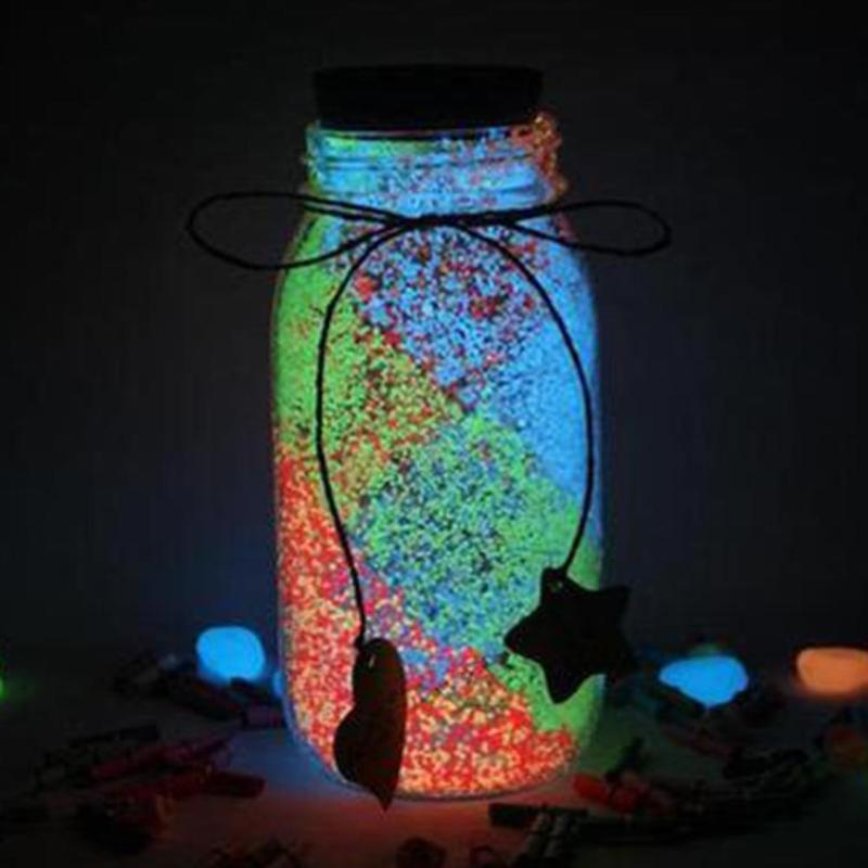 Funny Luminous Party DIY Bright Glow in the Dark Paint Star Wishing Bottle Fluorescent Particles For Kids Favorite Birthday Gift luminous glow sand super bright noctilucent sand diy wishing sand 50g lot glow in the dark for wishing glass bottle
