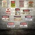 Shabby chic señales de advertencia tiro zombies ninguna Adhesivos de pared decoración hierro retro Tin metal signs plaques