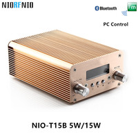 Бесплатная доставка nio t15b 15 Вт rf Радио аудио Мощность Усилители домашние Профессиональный передатчик Адаптеры питания и аудио кабель и авто