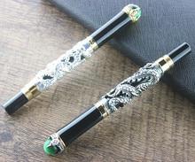 מ בינוני ציפורן עט נובע קליפ דרקון זהב יוקרה מצוין עם שקית מתנה בבית ספר משרד עסקי גברים בצורה חלקה בכתיבה
