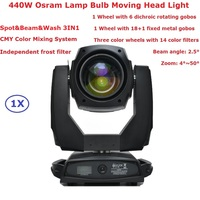 Spot & Beam & Wash 3IN1 Professional Lights High Power 440W Osram Lamp Bulb Moving Head Lights With Electronic Zoom Function