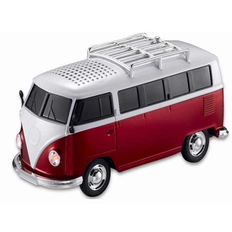 WS 266 цветной мини динамик в форме автомобиля мини автобусная Колонка звуковая коробка MP3 + + U диск + TF + FM функция