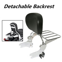 Brand New Motorcycle Black Luggage Rack Rear Passenger Backrest Sissy Bar Cushion Pad For Harley Electra