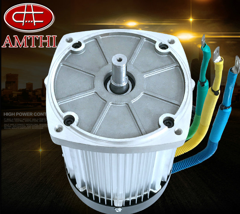 DC72V2200W 5000rpm 6.2-31.6N.M DC Permanent Magnet Brushless Differential Motor Square Keyway Electric Vehicle / Scooter Motor 60v 3000w 4600rpm permanent magnet brushless differential speed dc motor electric vehicles machine tools accessories motor