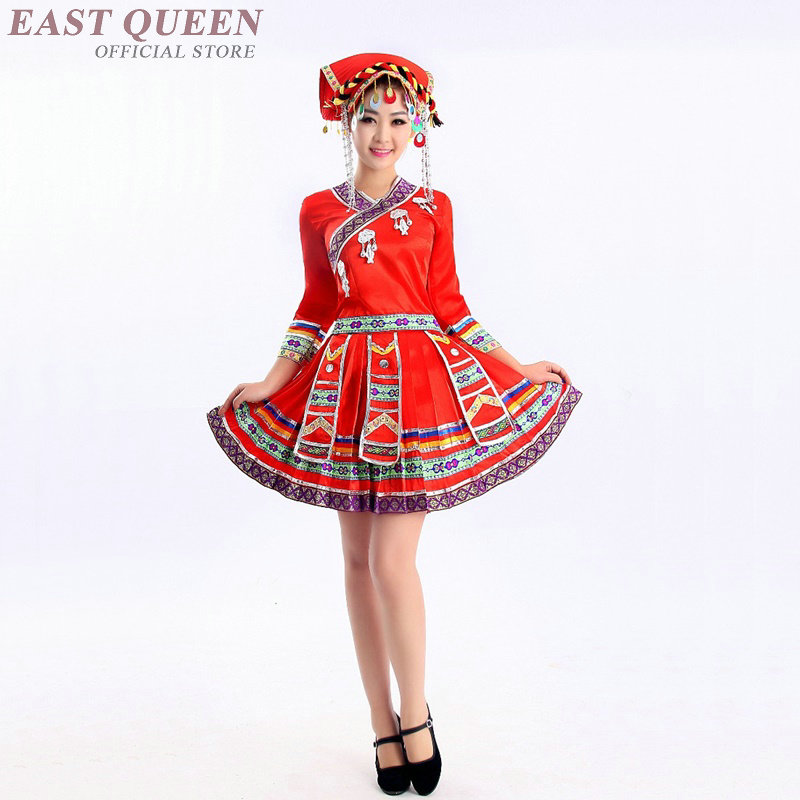 Chinese folk dance costume clothing hanfu ancient fan dance traditional Chinese dance costumes Stage dance wear AA3223