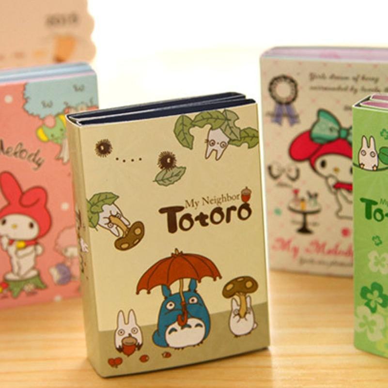 Cute Totoro Melody 6 Folding Memo Pads Sticker Notes Bookmark Boys Girls Gift School Stationery