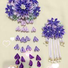 Wisteria волосы фиолетовый градиент сон-трава шпилька костюм аксессуары-подвески и ветер hanfu висели