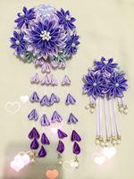 Wisteria hair purple gradient wind flower hairpin costume tassel accessories and wind hanfu was hanging