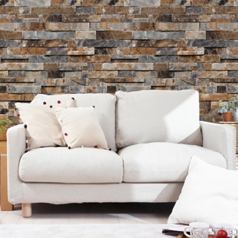 ᓂ3D papel de pared de ladrillo espesar PVC piedra Fondos de ...