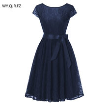 27fd845ec OML515#Navy blueLace short sleeved Ball Gown Bridesmaid dresses wedding  party prom dress cheap wholesale women fashion clothing
