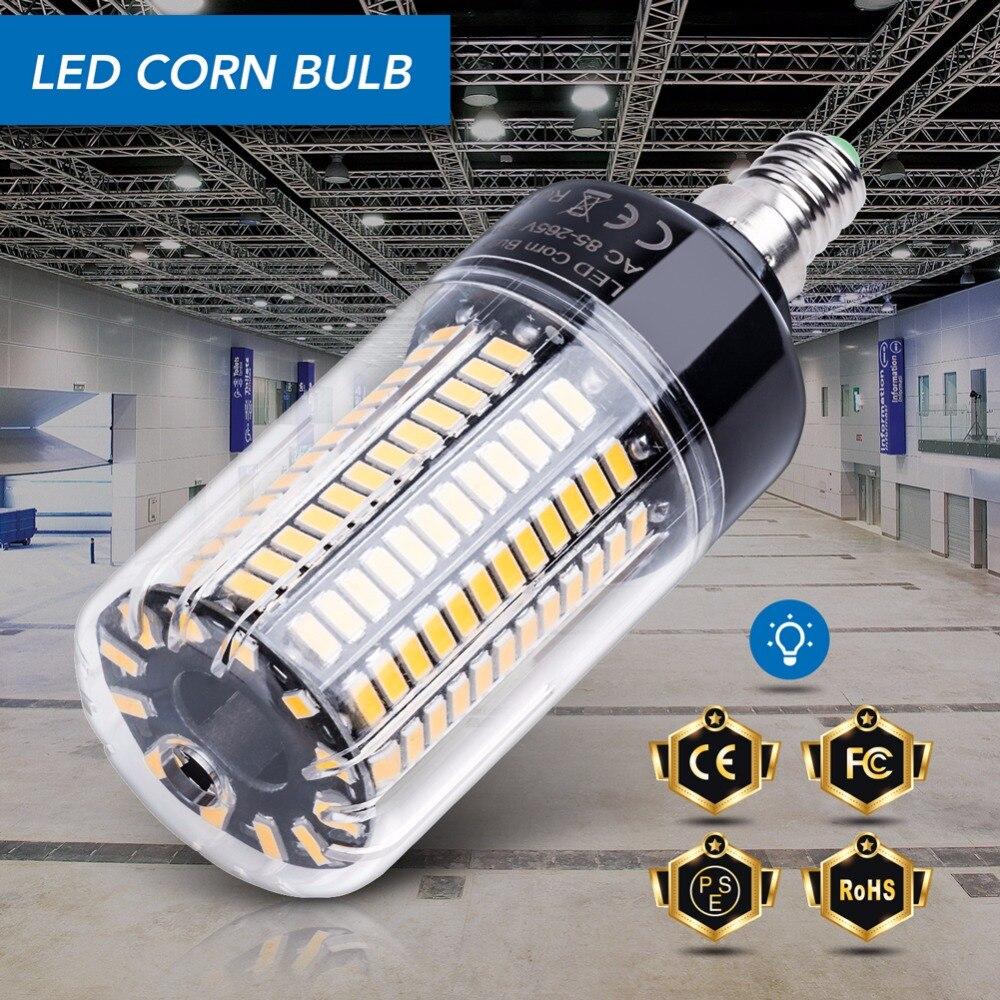 Bombilla de mazorca E14 E27 lámparas LED 220V B22 de alta potencia 28 40 72 108 132 156 189 luces Led SMD 5736 lámpara LED 110V sin parpadeo 85-265V