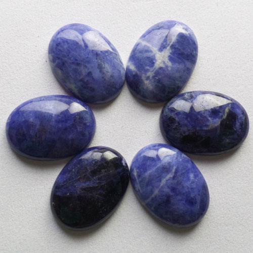 Free Shipping Beautiful 6pcs 30x22x7mm Sodalite Oval CAB CABOCHON B0013746