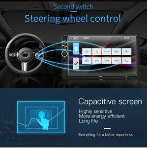 """Image 5 - 7 """"12 В HD сенсорный экран Bluetooth автомобильный MP4 MP5 плеер Видео Аудио FM радио камера заднего вида телефон подключение автомобильный развод громкой связи"""