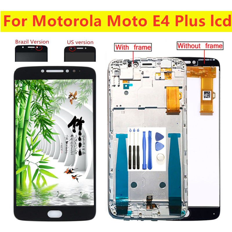 High Qaulity For Motorola <font><b>Moto</b></font> <font><b>E4</b></font> <font><b>Plus</b></font> <font><b>XT1770</b></font> XT1773 XT1771 XT1772 LCD <font><b>Display</b></font> Touch Screen Digitizer Assembly Replacement Parts image