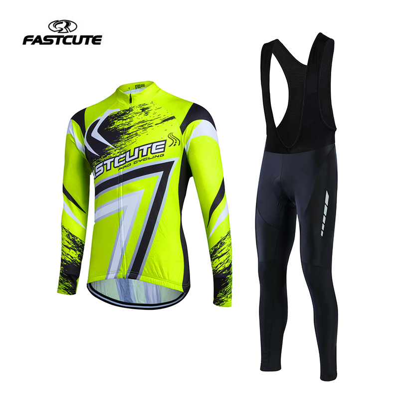 Men Long Sleeve Cycling Jersey Set Bicycle font b Sports b font Clothing Ropa De Ciclismo