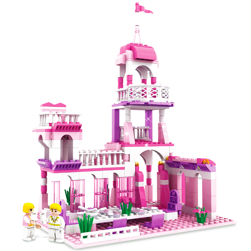 254Pcs Princess Castle Figures Educational Building Blocks Girl Friend Models Assembly Bricks Toys For Girls Brinquedos 13262 new 515pcs girl series castle educational lepines building blocks bricks figures toys gril toy