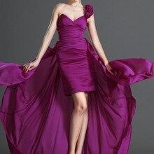 Новое модное многофункциональное коктейльное платье с v-образным вырезом на одно плечо