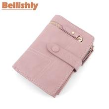 Купить с кэшбэком Bellishly 2019 luxury brand Money bags for women wallets leather female purse coin pocket ladies purses designer zipper wallet