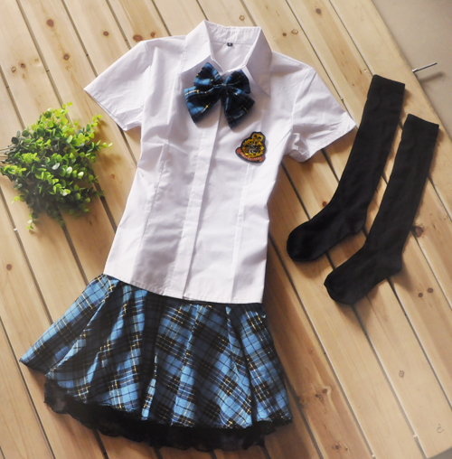 wholesale Dark Blue plaid classic student uniform fashion preppystyle  student uniform student set-in School Uniforms from Novelty & Special Use  on