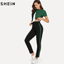 SHEIN Sporting Pullover Pants Set Casual Round Collar Short Sleeve Twopiece Women Summer Two Piece Set